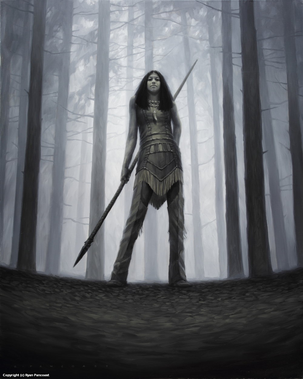 Huntress Artwork by Ryan Pancoast