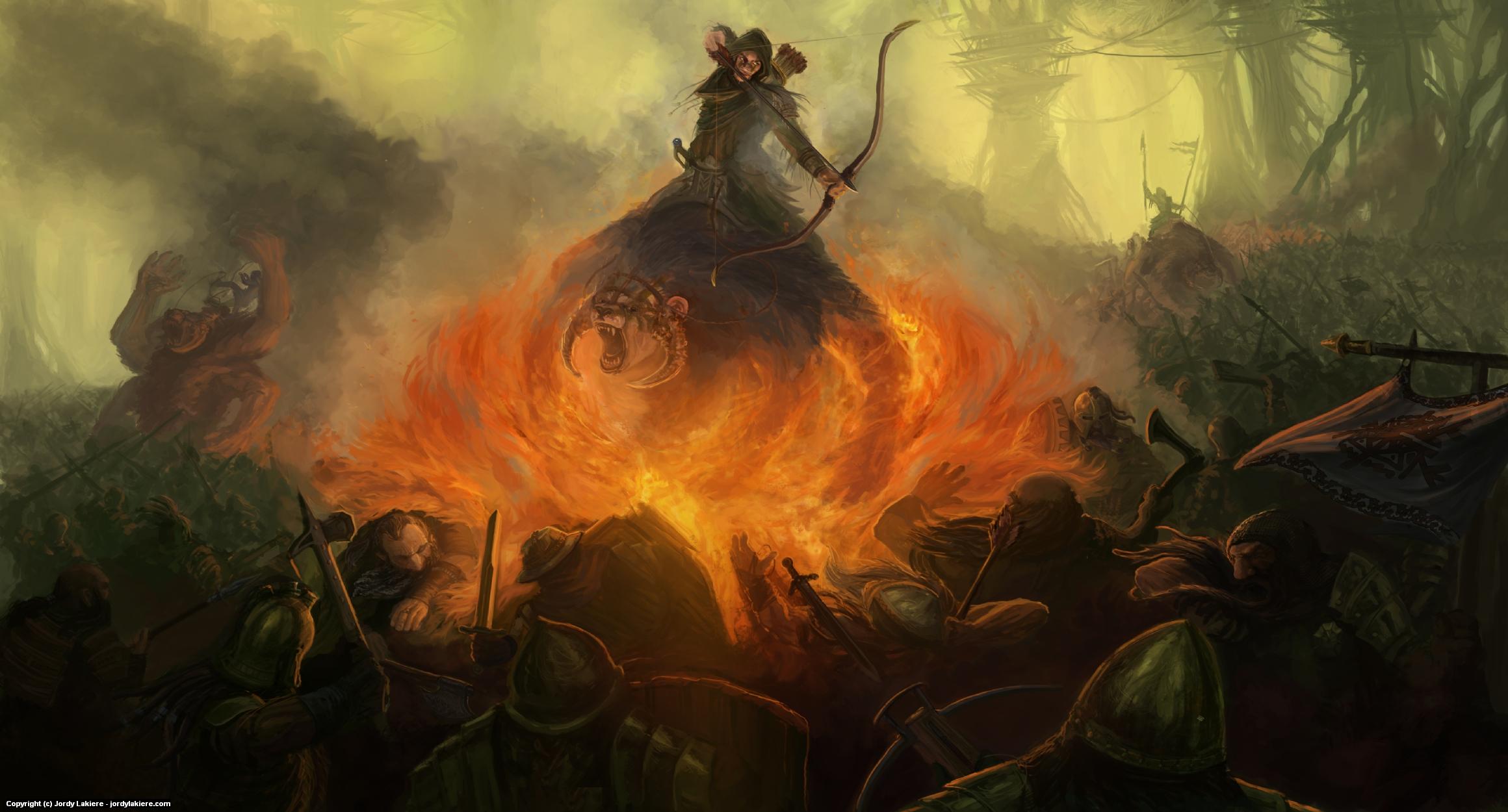 Battle at Monghadi Artwork by Jordy Lakiere