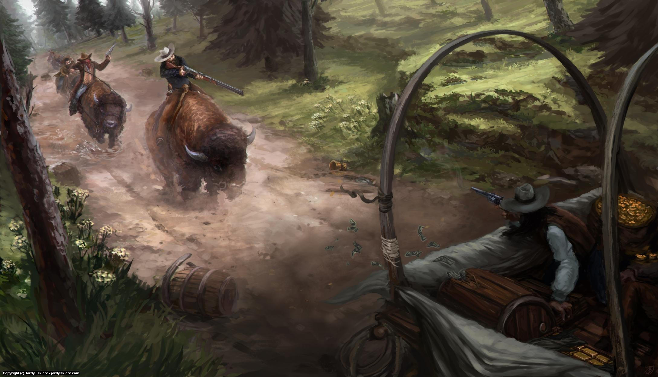 Buffalo Posse Artwork by Jordy Lakiere