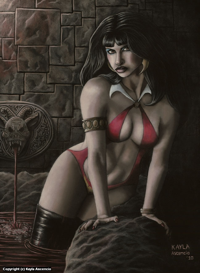 Vampirella  Artwork by Kayla Ascencio