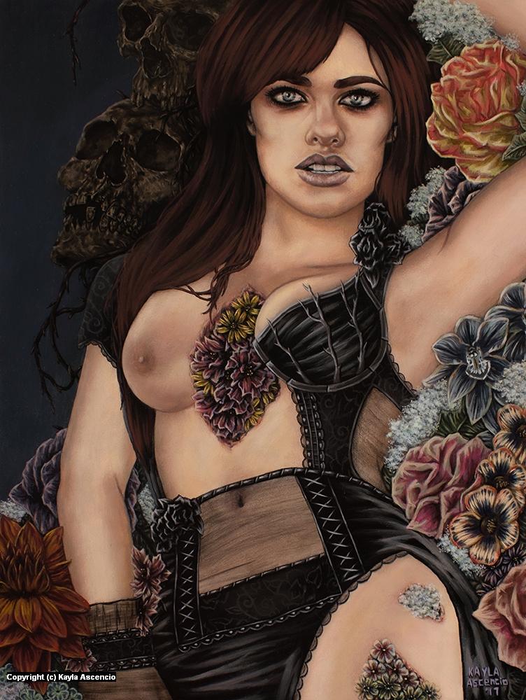 The Corpse Garden Artwork by Kayla Ascencio