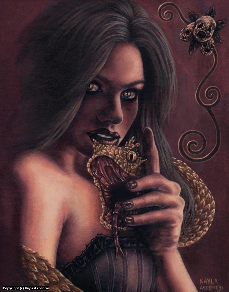 Golden Scythe  Artwork by Kayla Ascencio