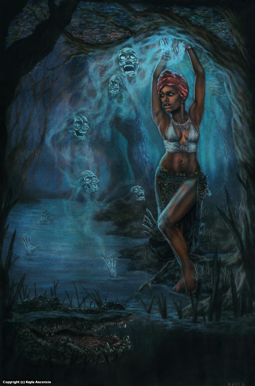 Marie Laveau  Artwork by Kayla Ascencio