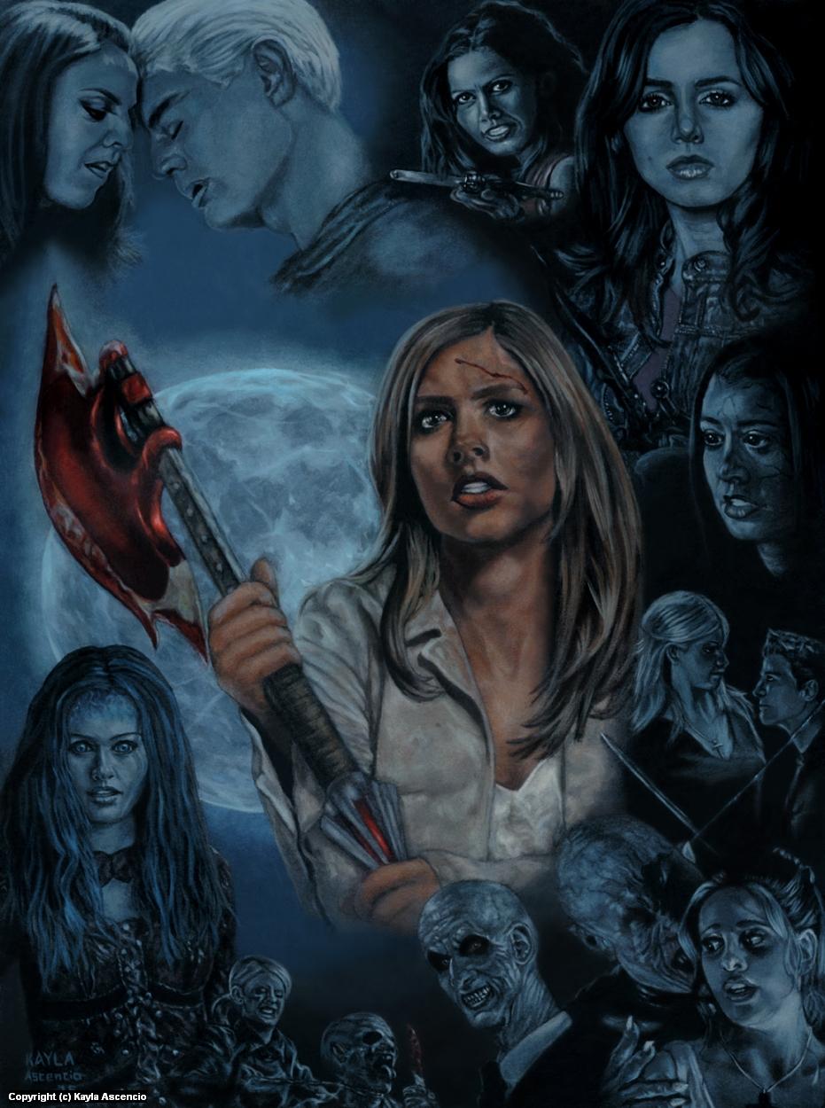 Buffy/Angel Commission Artwork by Kayla Ascencio