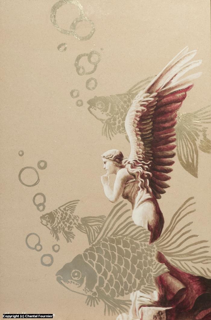 Angelfish Artwork by Chantal Fournier