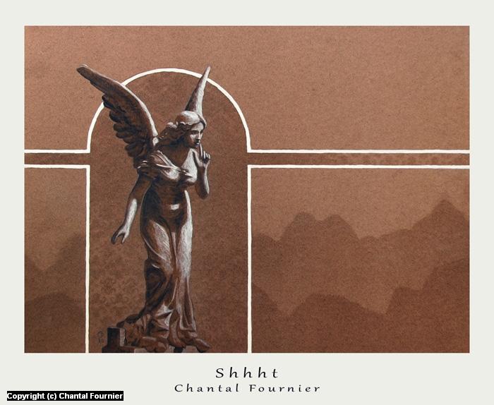 Shhht Artwork by Chantal Fournier