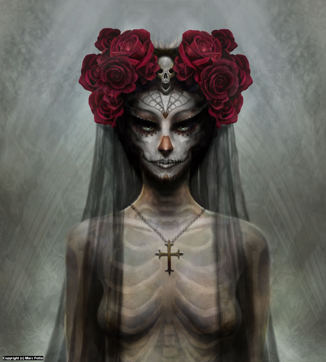 Day of the Dead Bride Artwork by Marc Potts