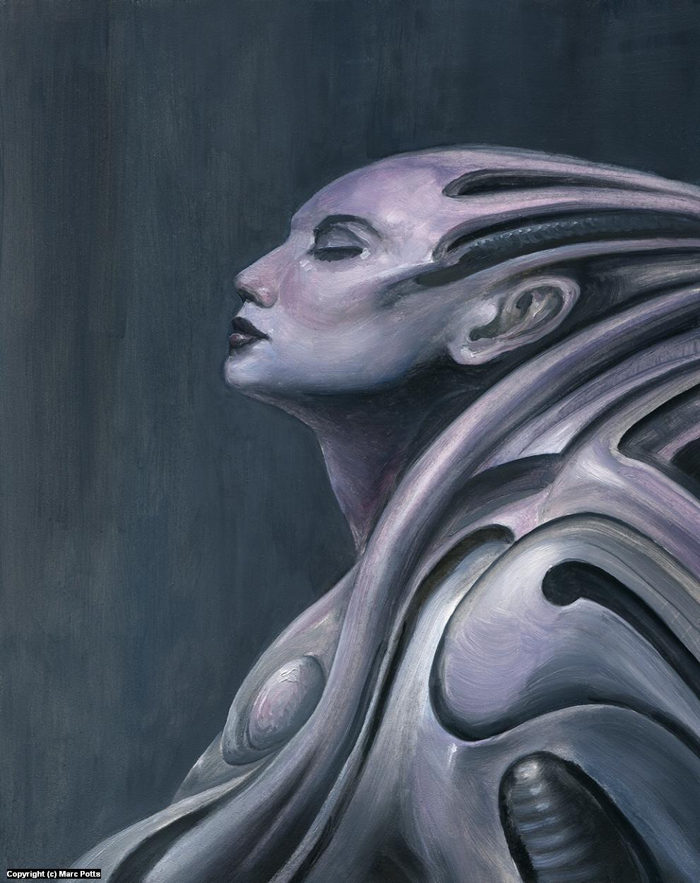 Gynoid ii Artwork by Marc Potts