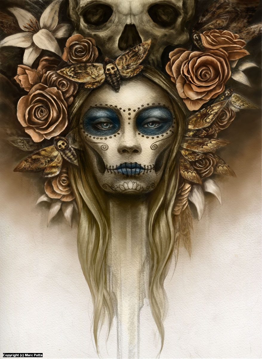 Day of the Dead Artwork by Marc Potts
