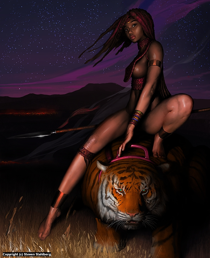 Tiger girl Artwork by Steven Stahlberg