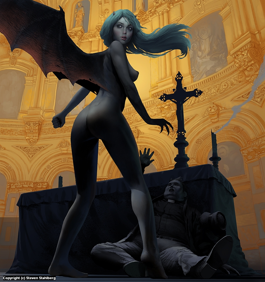 Succubus Artwork by Steven Stahlberg