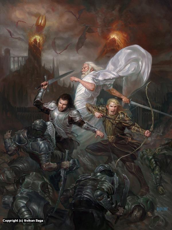 Sauron's Fall Artwork by Volkan Baga