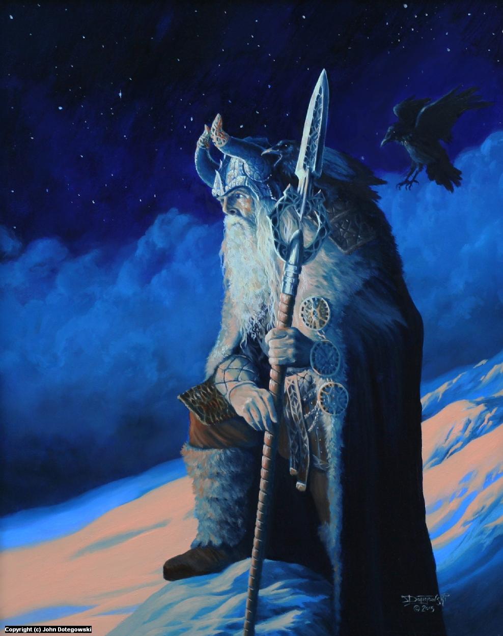 Odin Allfather Artwork by John Dotegowski