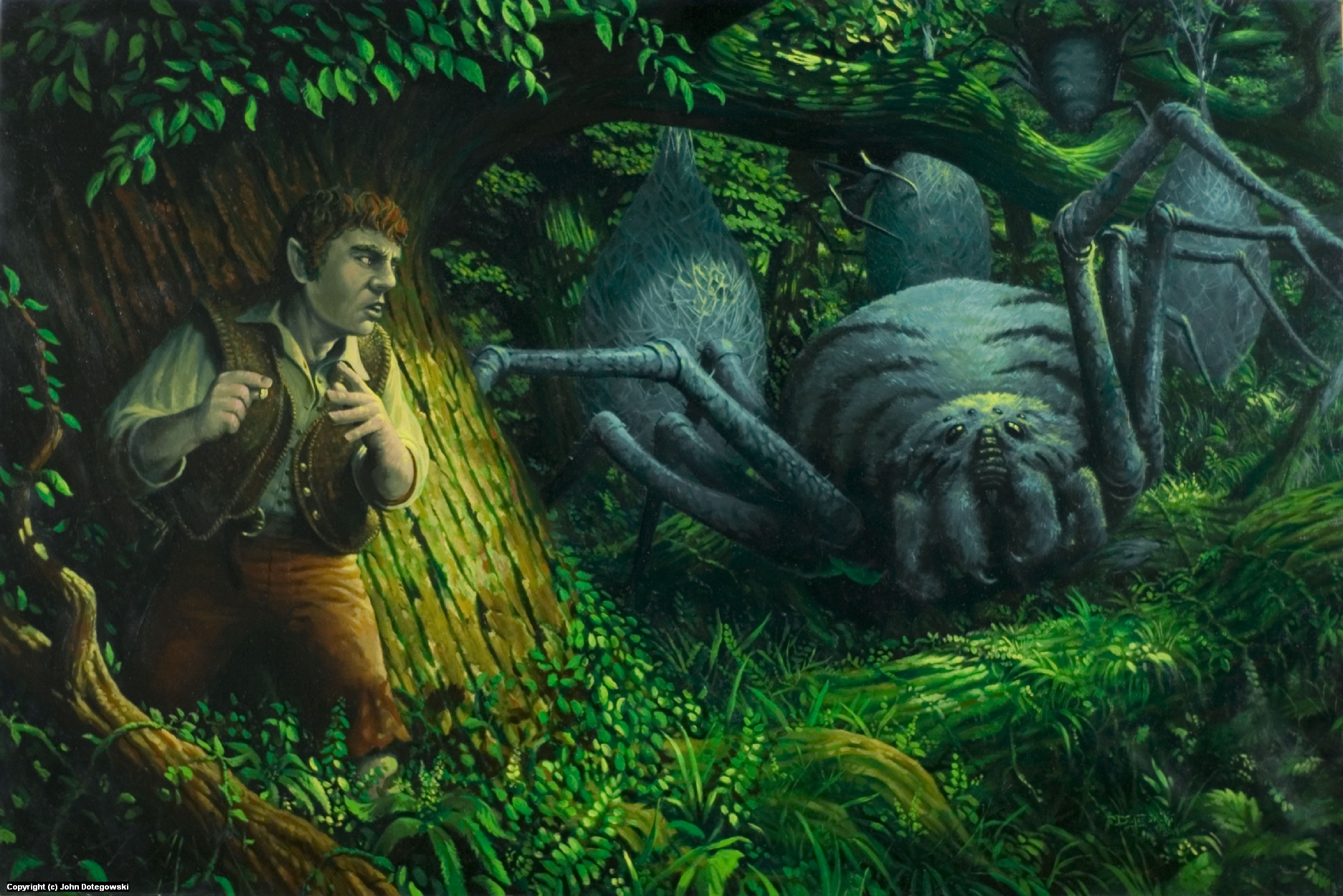 Bilbo in the Mirkwood Artwork by John Dotegowski