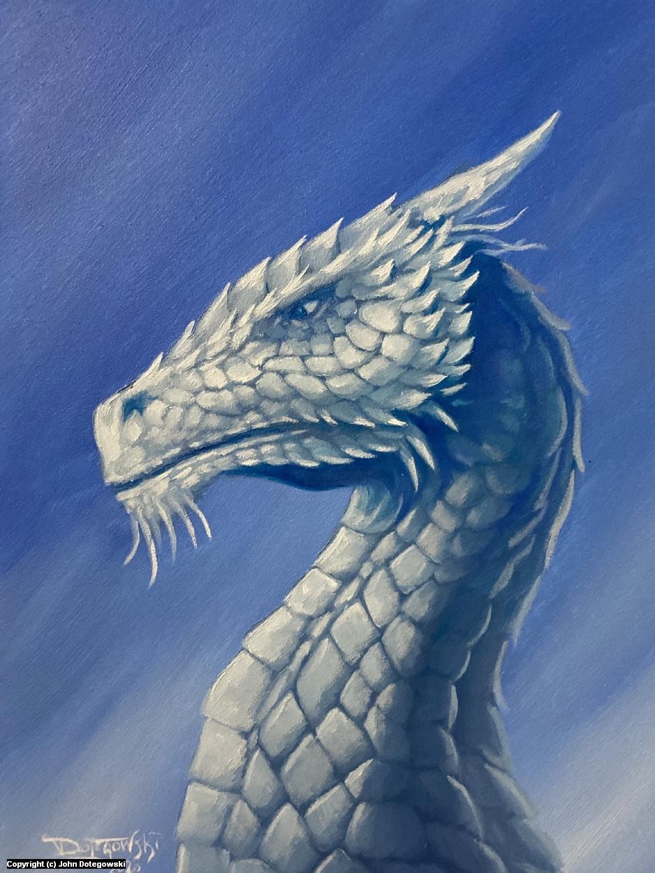 White Dragon Artwork by John Dotegowski