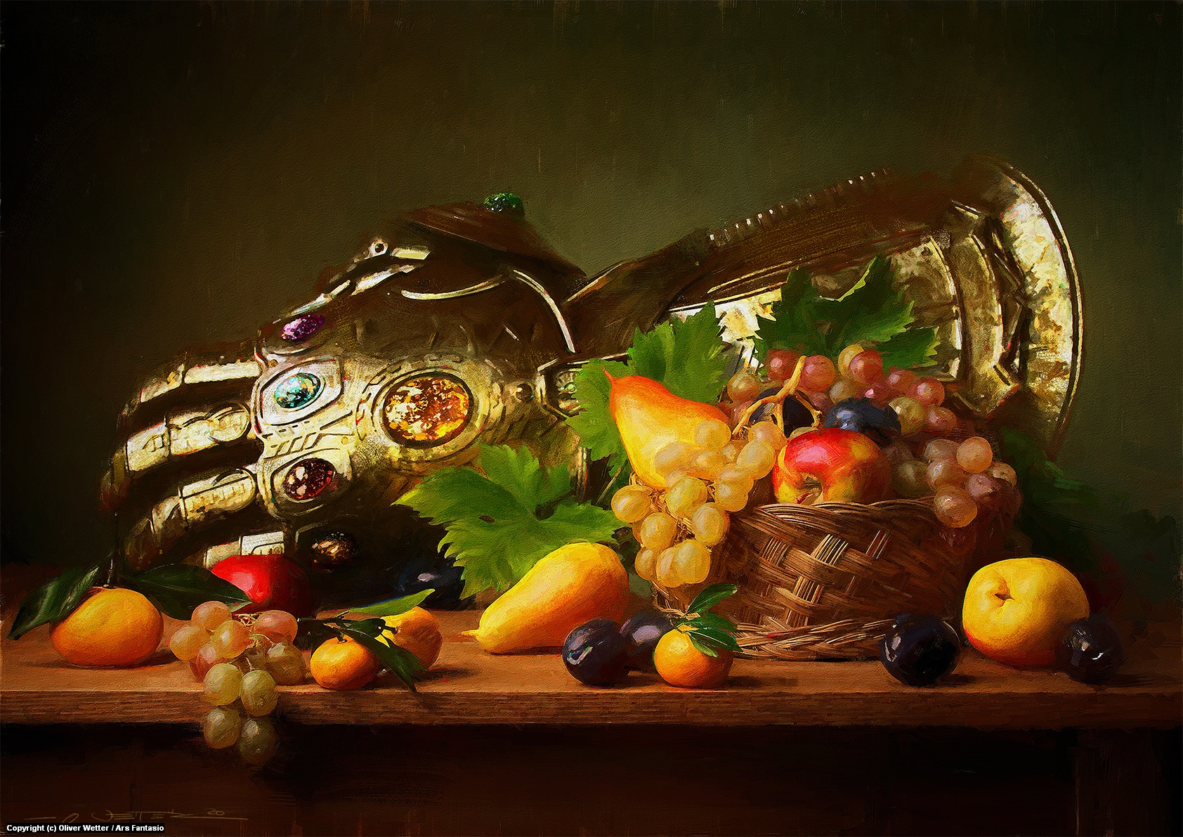 Infinity Gauntlet on Still Life Artwork by Oliver Wetter