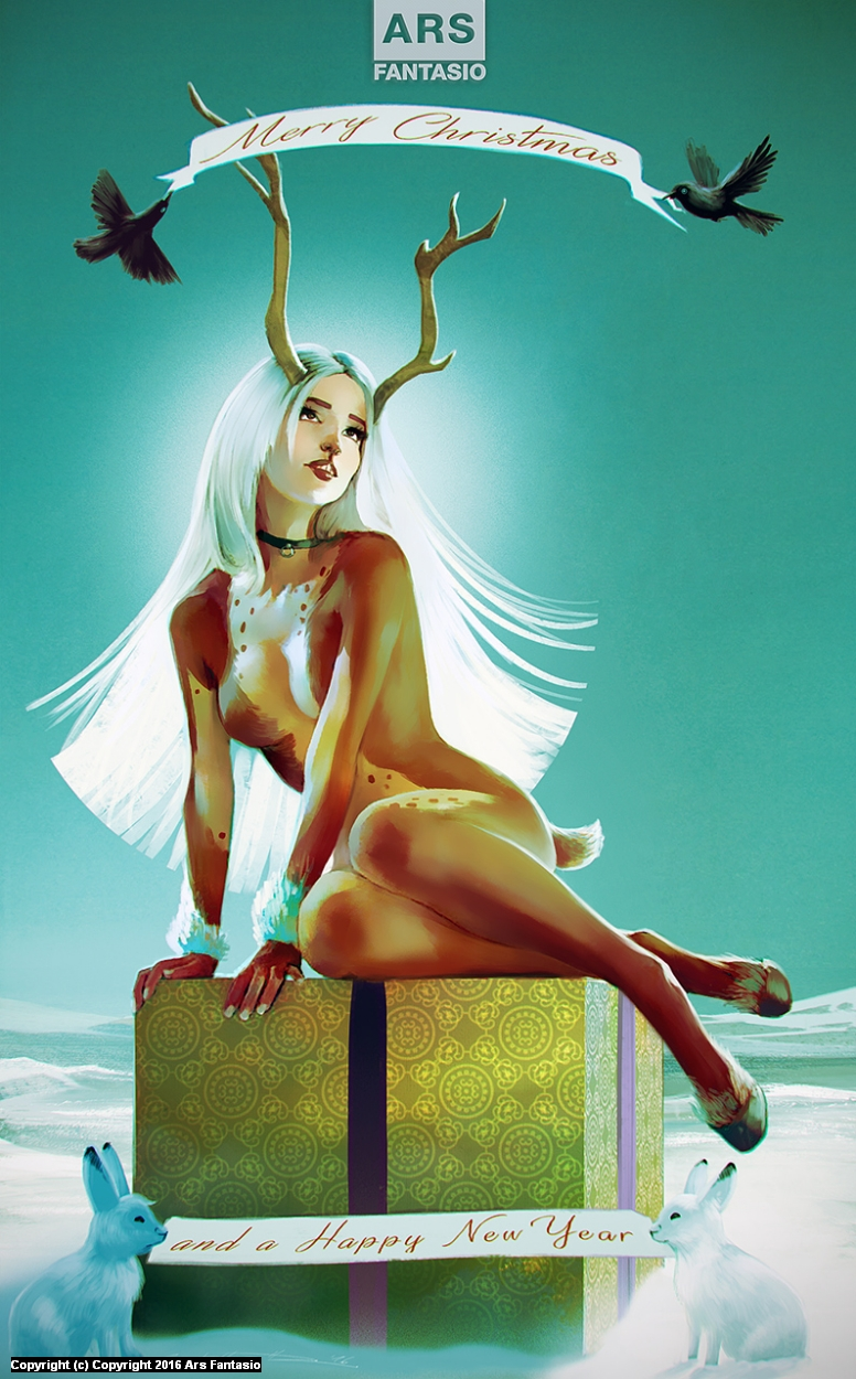 Ars Fantasio Holiday Greetings Artwork by Oliver Wetter