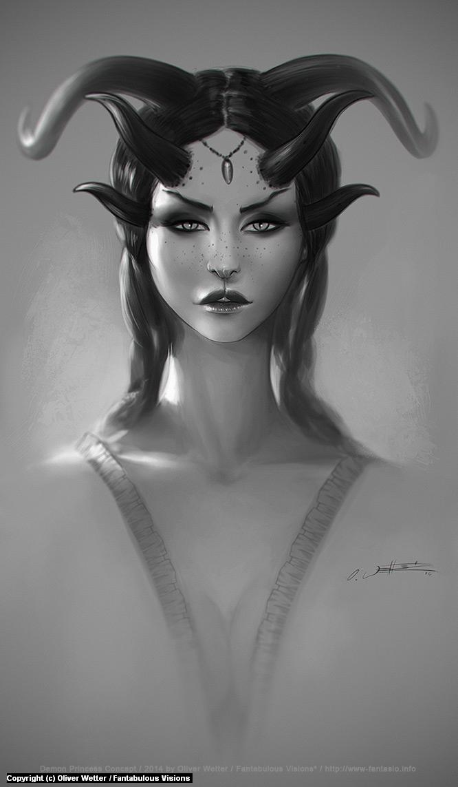 Demon Princess Concept Artwork by Oliver Wetter