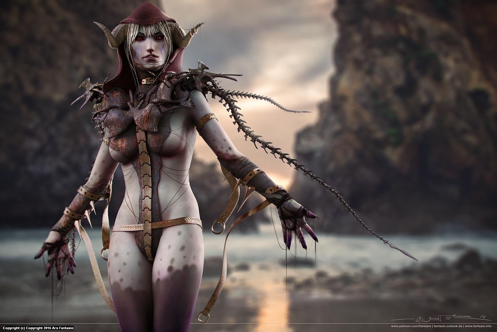 Demon Warrior Concept Artwork by Oliver Wetter