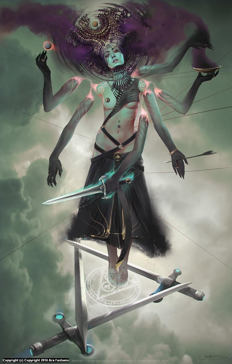 HEXEN I: Heretic Warrior Artwork by Oliver Wetter