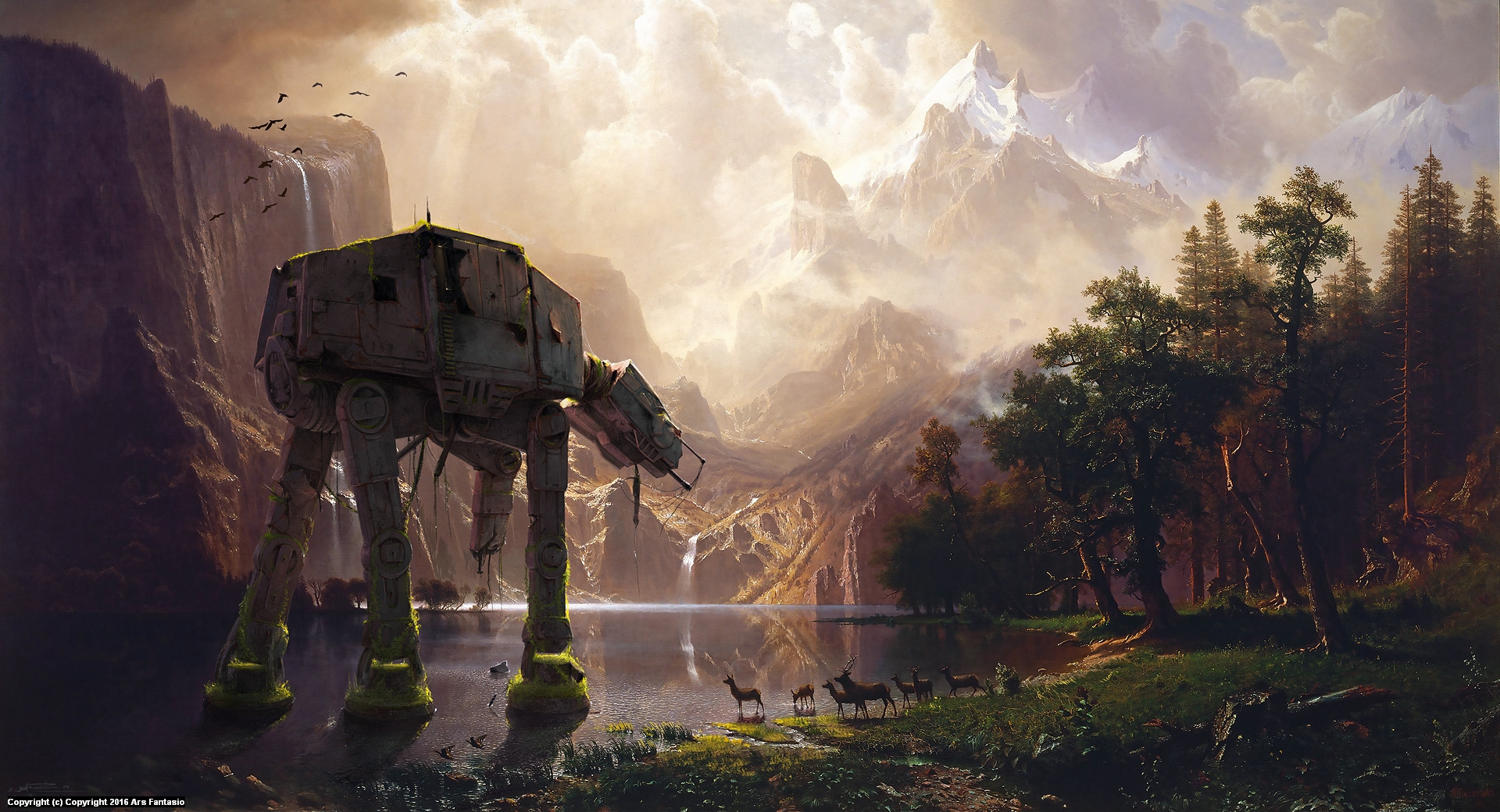 AT-AT Among The Sierra Nevada Artwork by Oliver Wetter