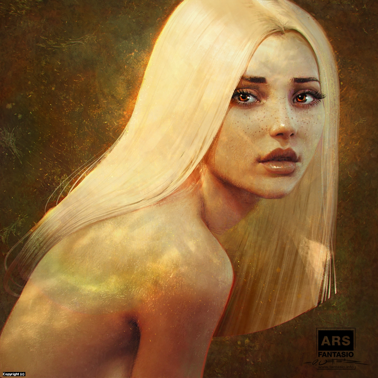 Autumn Lighting Portrait Study Artwork by Oliver Wetter