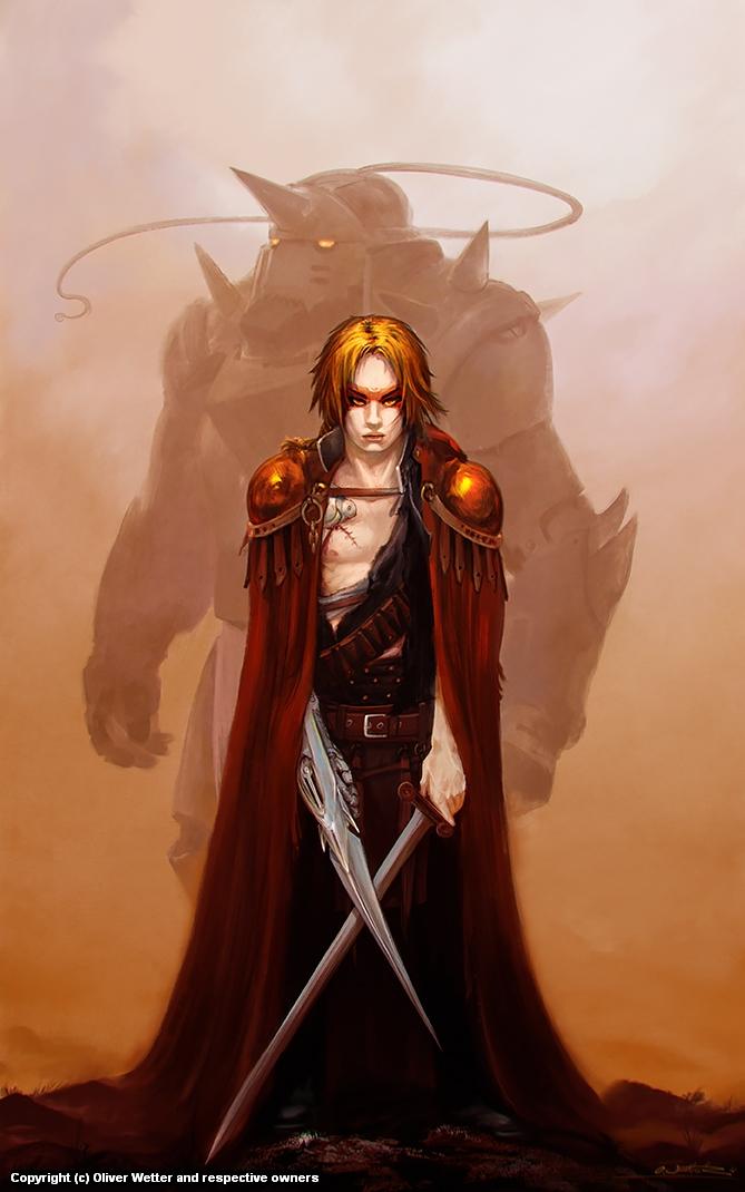 Brom Tribute: Fullmetal Alchemist - Crossing Swords Artwork by Oliver Wetter