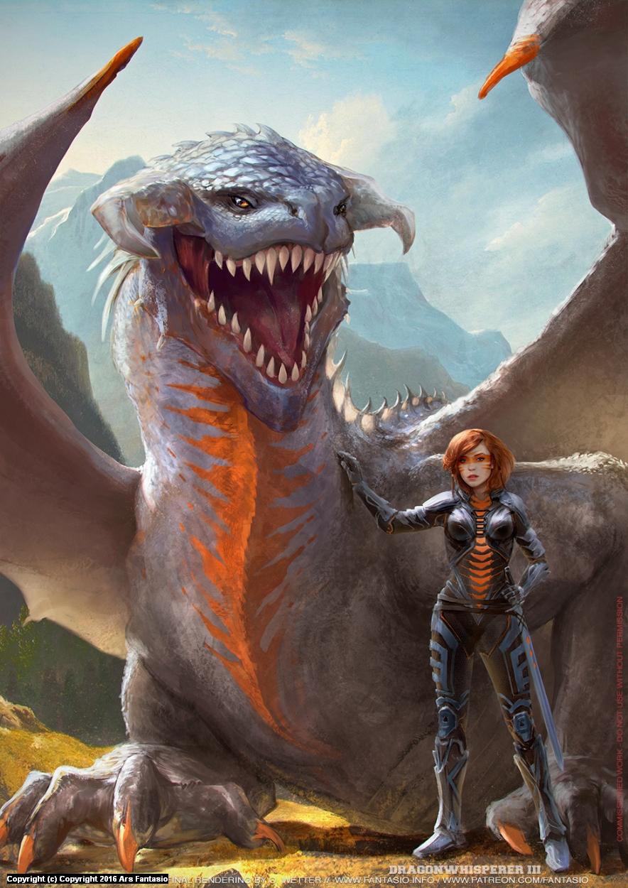 Dragonwhisperer III Artwork by Oliver Wetter
