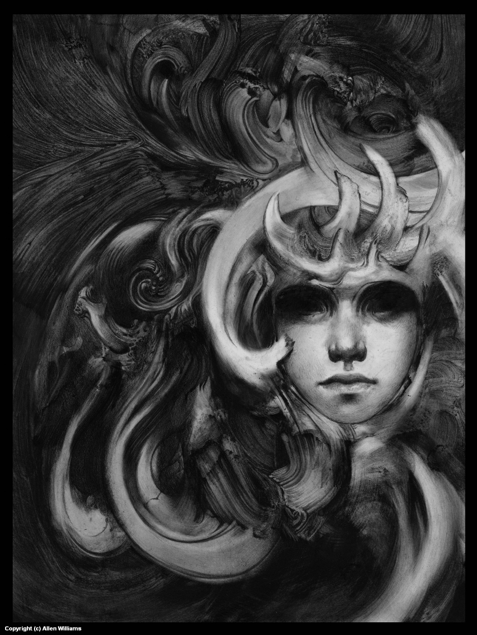 The Black Lotus Artwork by Allen Williams