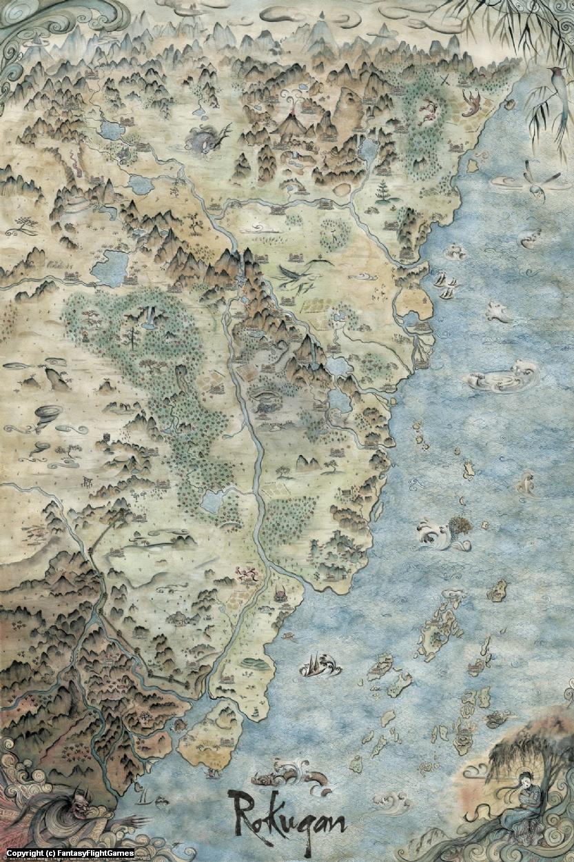 Map of Rokugan Artwork by Francesca Baerald