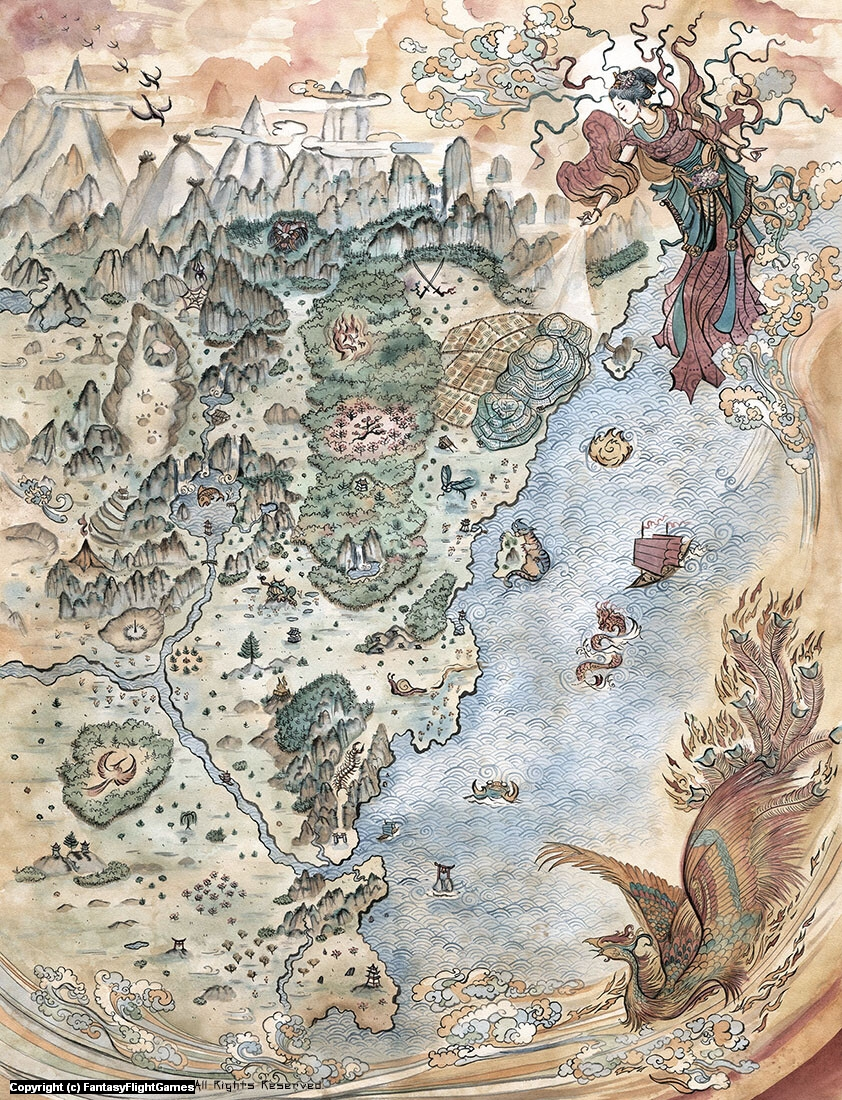 Phoenix Lands Map Artwork by Francesca Baerald