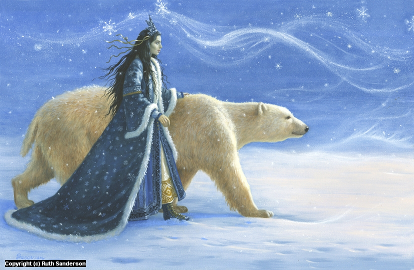 The Snow Princess Artwork by Ruth Sanderson