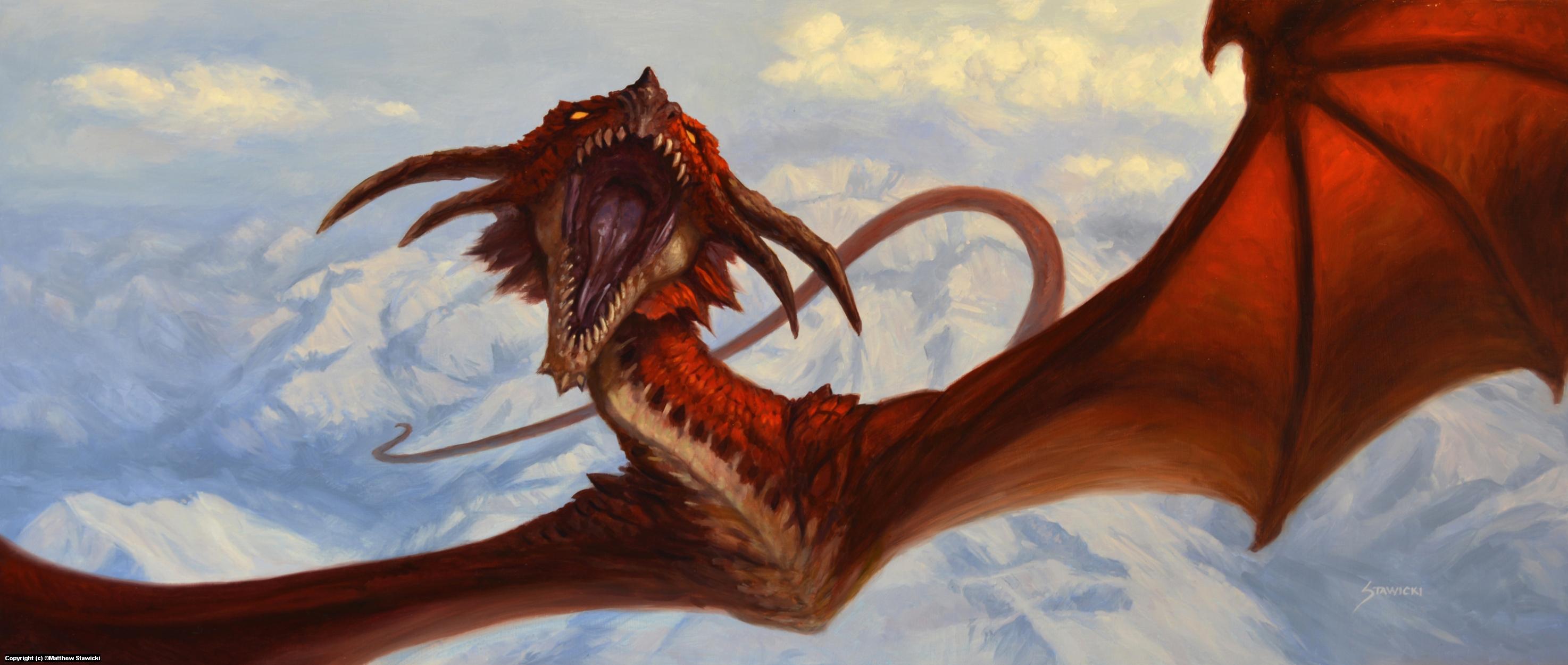 Dragon Flight Artwork by Matthew Stawicki