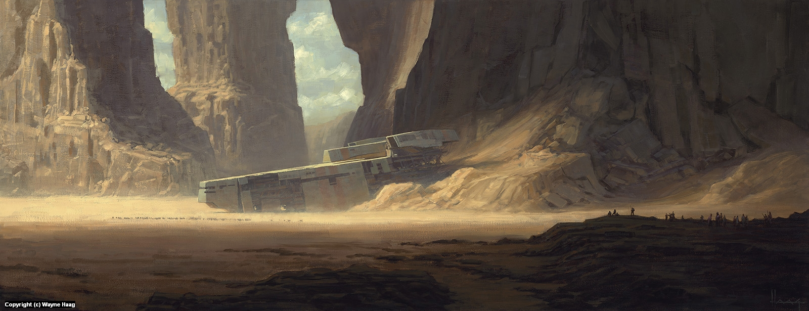 Desert Wreck Artwork by Wayne Haag