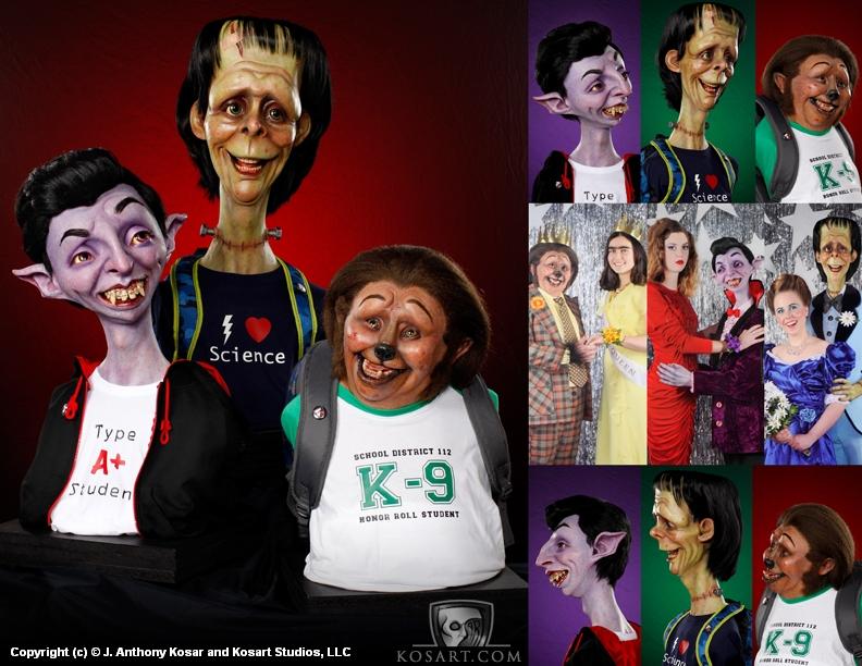 Teenage Monsters Artwork by J. Anthony Kosar