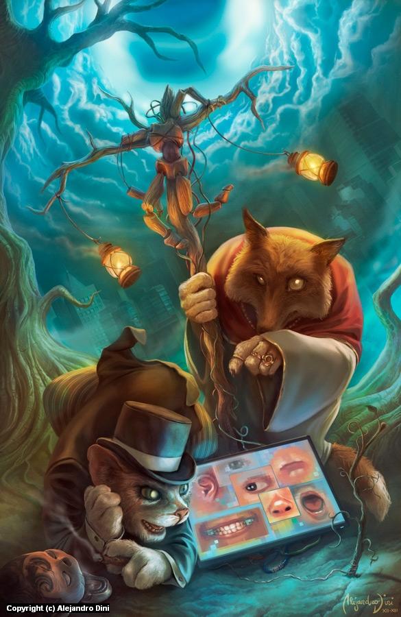 Pinocchio Rewired Artwork by Alejandro Dini