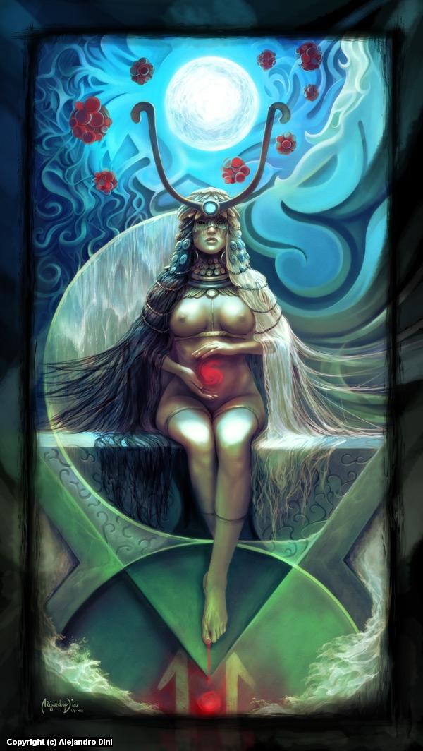 The High Priestess Artwork by Alejandro Dini