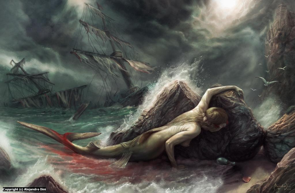 The Sacrifice of The Little Mermaid Artwork by Alejandro Dini