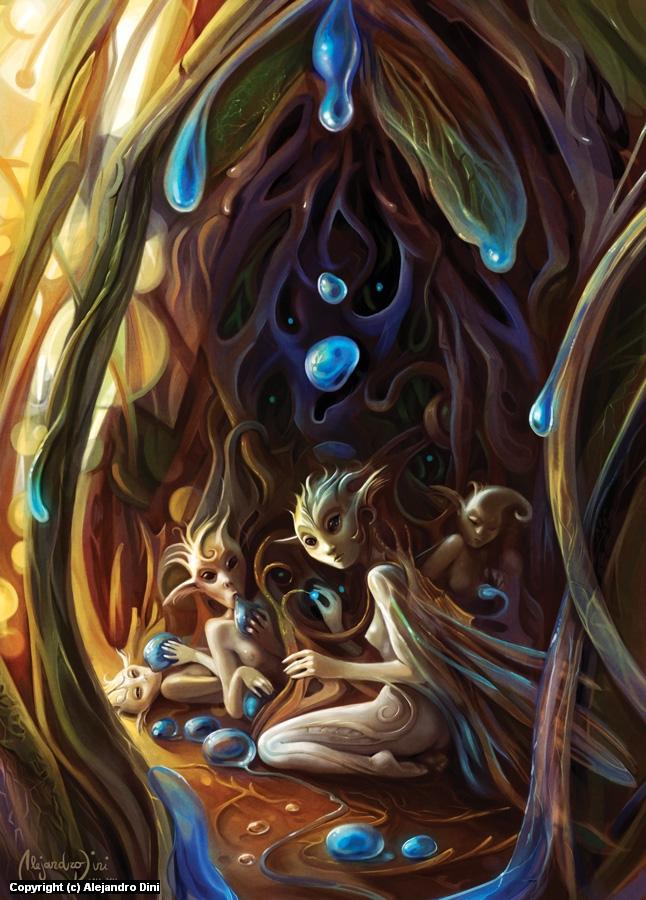 Blue Seeds Artwork by Alejandro Dini