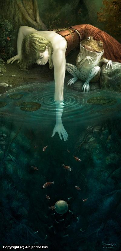 The Frog Prince Artwork by Alejandro Dini