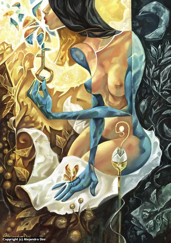 Lady of The Key Artwork by Alejandro Dini