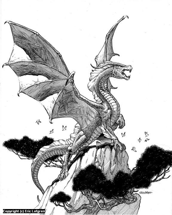 Dragon Rock Artwork by Eric Lofgren