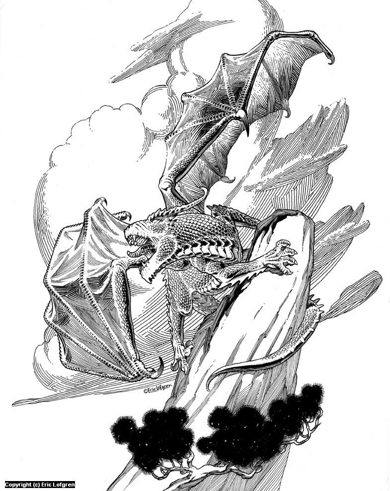 Dragon Perch Artwork by Eric Lofgren