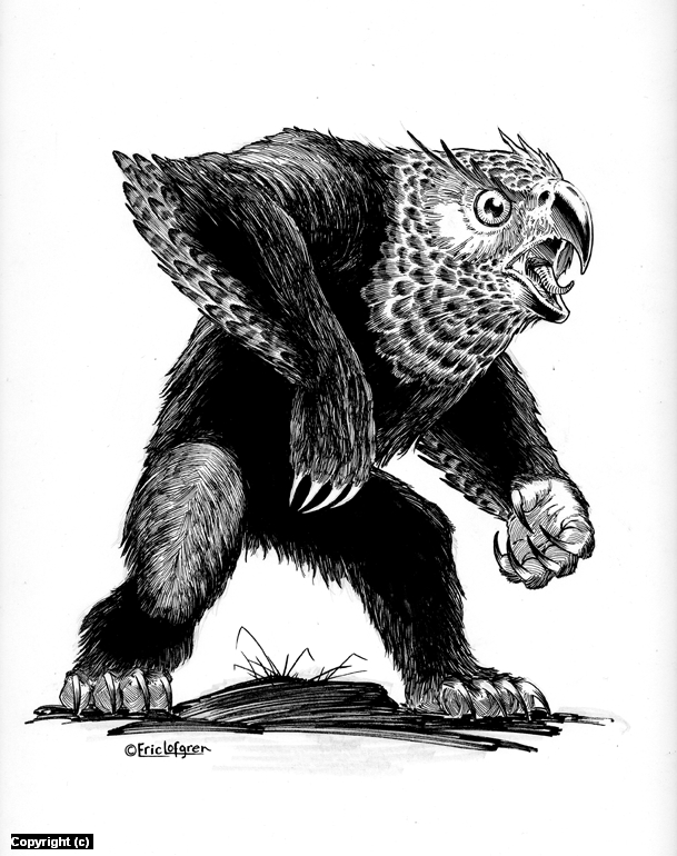 Owl Bear Artwork by Eric Lofgren
