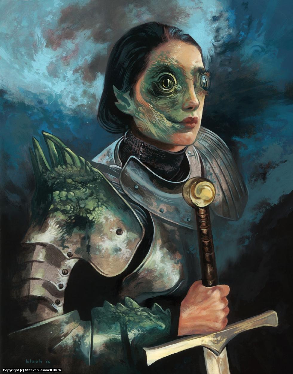 Dragon Knight Artwork by Steven Black