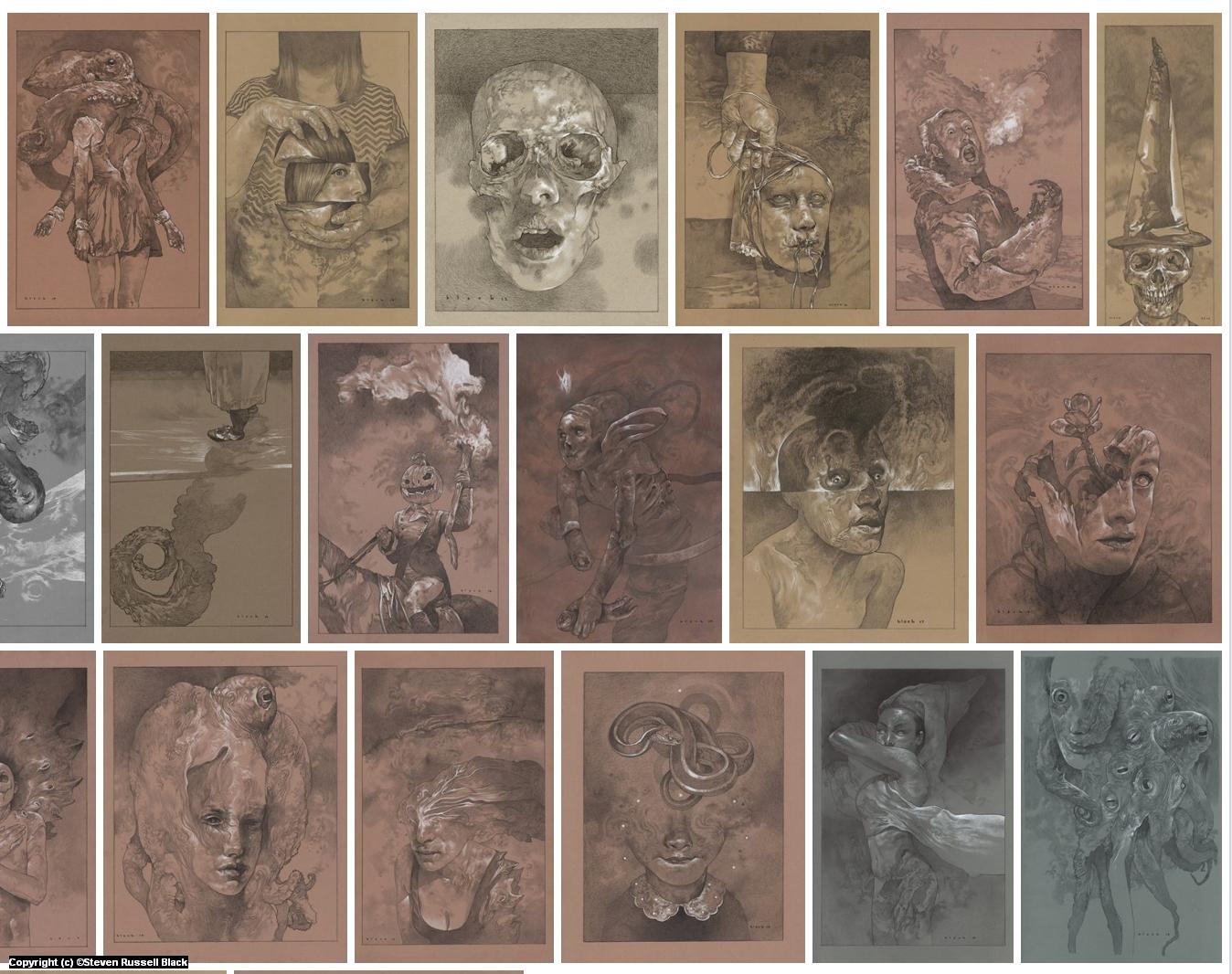 Ashes Kickstarter Art Book Artwork by Steven Black