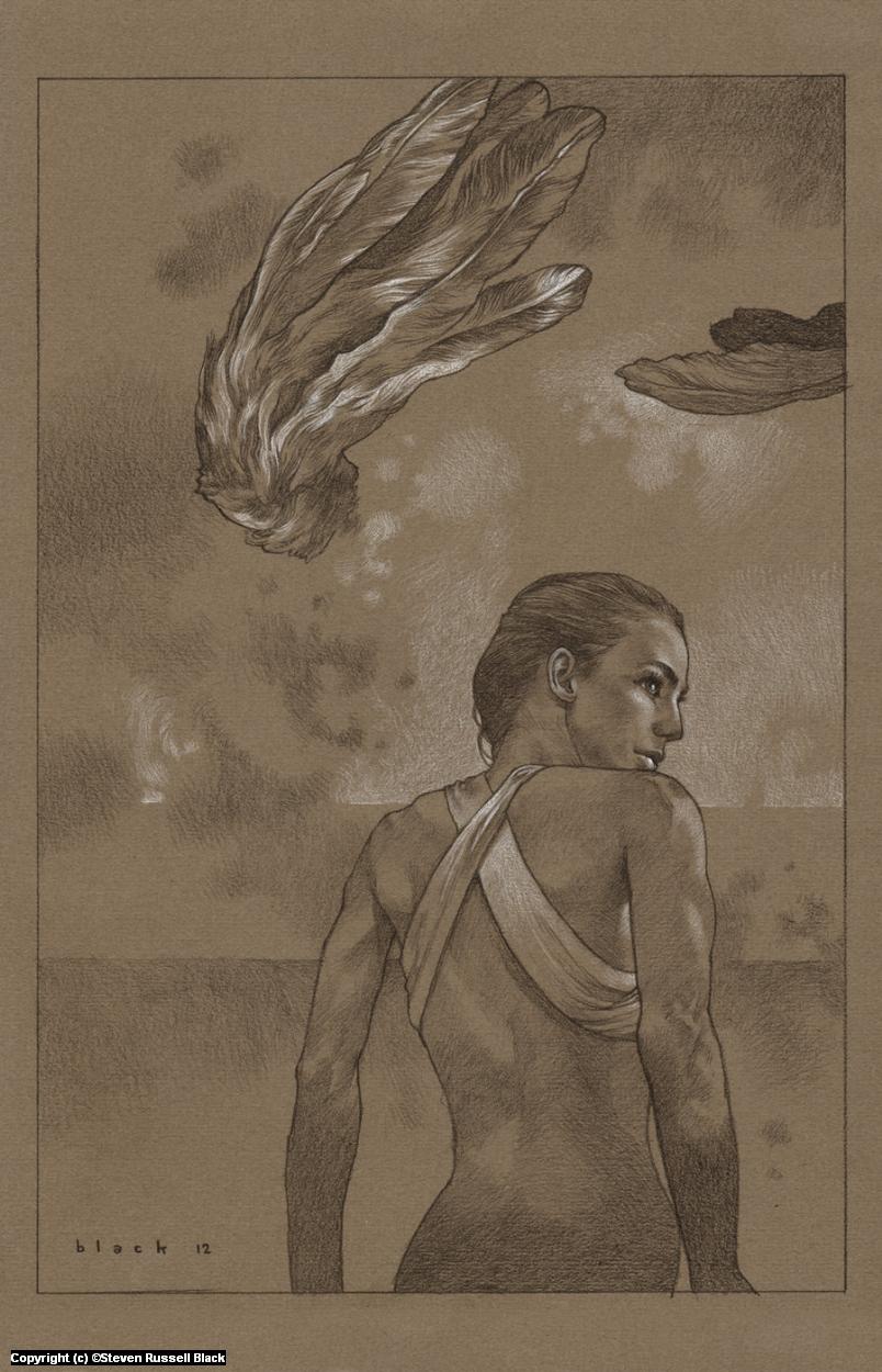 Unwinged Victory Artwork by Steven Black