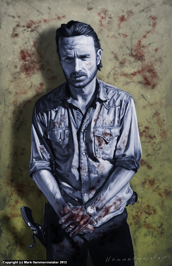 The Blood on Rick's Hands Artwork by Mark Hammermeister