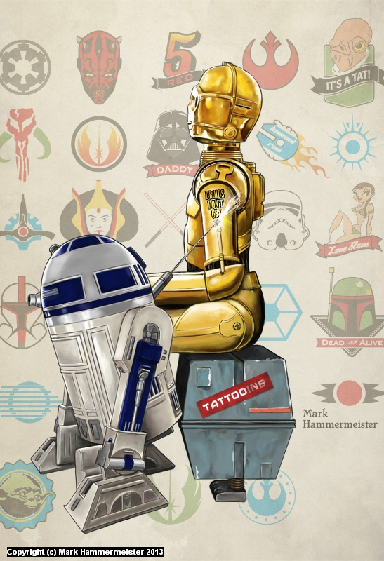 Droids Don't Cry Artwork by Mark Hammermeister
