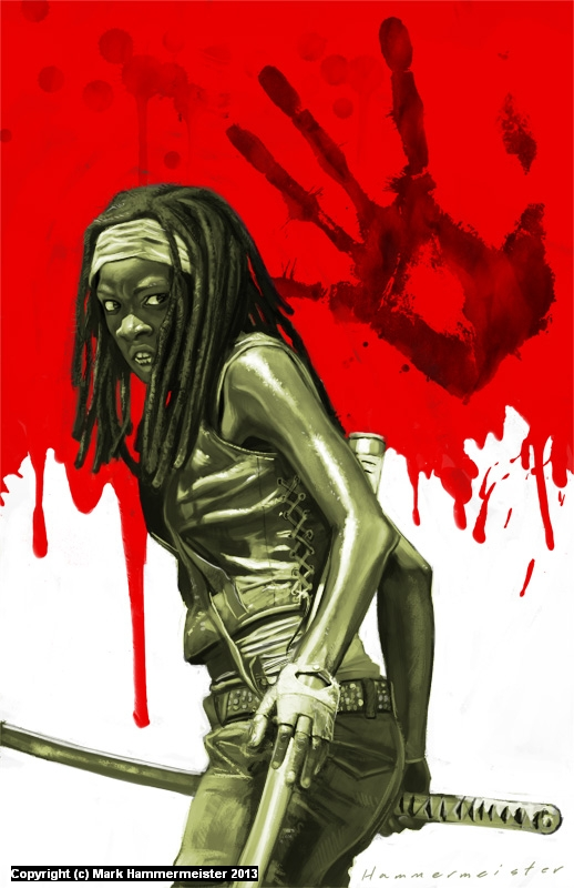 Michonne Artwork by Mark Hammermeister
